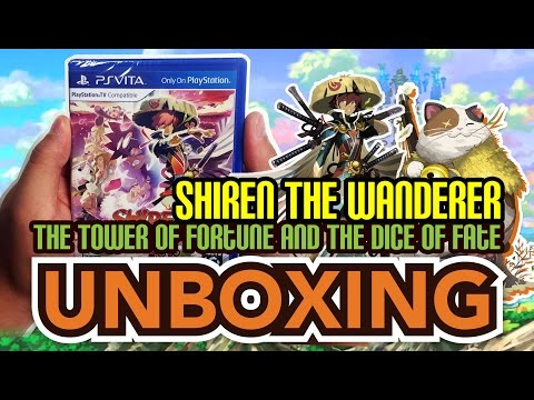 Shiren the Wanderer: The Tower of Fortune and the Dice of Fate (PS Vita) Unboxing!!