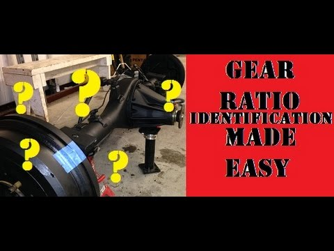 Easy Gear Ratio Identification in any Axle.