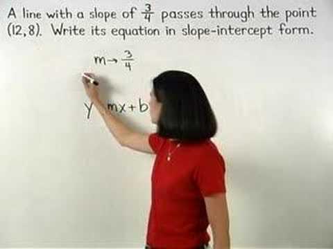 Writing the Equation of a Line - MathHelp.com - Algebra Help