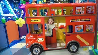 Learn Colors with Baby Indoor Playground Play Wheels on the Bus School songs Nursery Rhymes for Kids