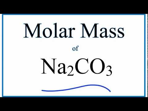 Molar Mass / Molecular Weight of Na2CO3 (Sodium Carbonate)