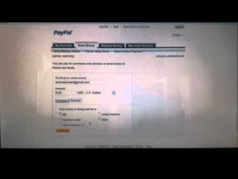 How to use paypal to send or receive money