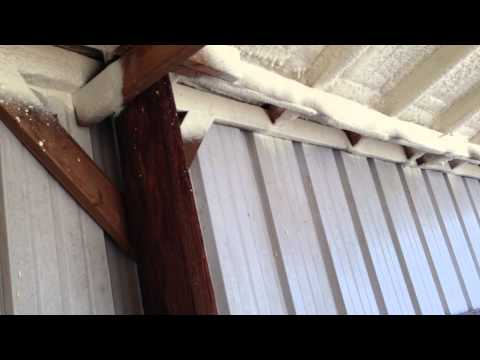 Horse Help Tip - Foam Insulation for Horse Roof - Heat, Noise, Strength & Prolonged Life