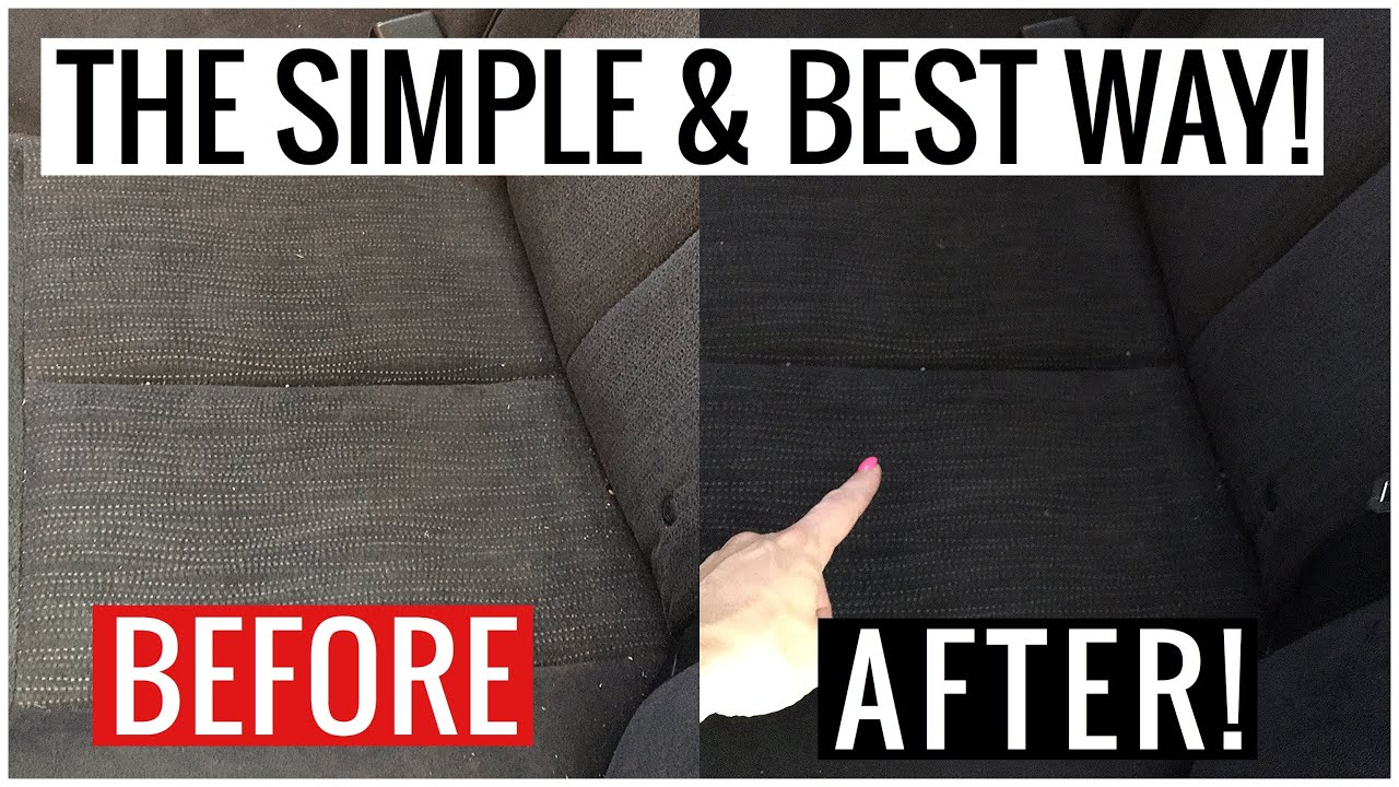 How to Deep Clean CLOTH CAR SEATS!! (Fast, Easy, Removes Stains & Dirt) | Andrea Jean Cleaning