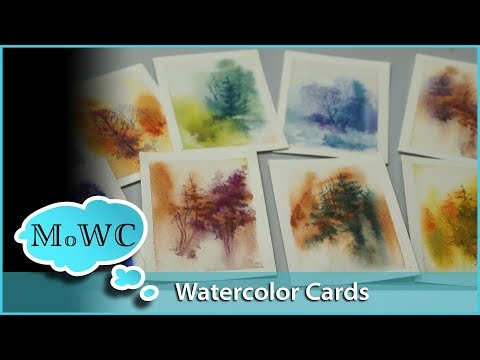 Painting Watercolor Greeting Cards and Trading Cards