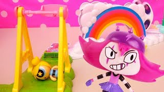 Powerpuff Girls Toys for Kids - Buttercup Has Food Fight, Bubbles Plays at the Park, Blossom Fights