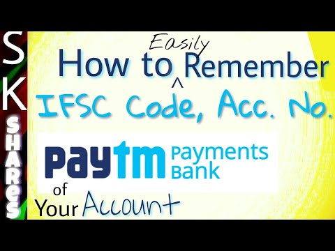 How to easily remember IFSC code, account number of Paytm payments bank