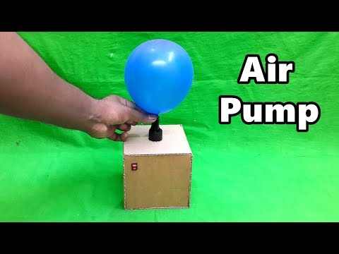 How to Make Electric Air Pump for Balloon using Cardboard