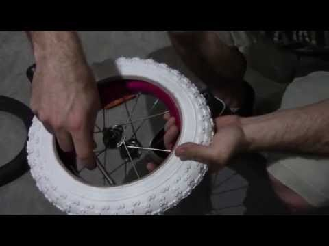 How to change a kids 12 inch bike tire