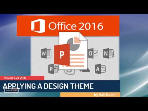PowerPoint 2016: Applying a Design Theme to a Presentation (Module 3 of 30)