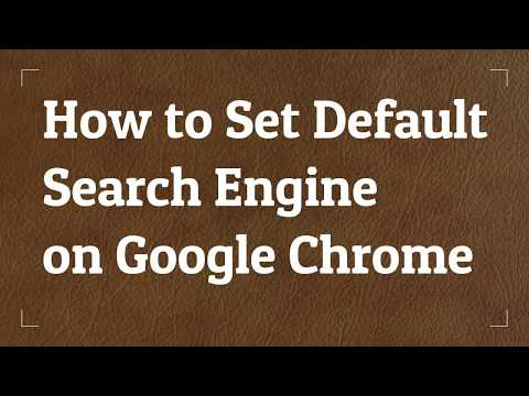 How to Set Default Search Engine on Google Chrome