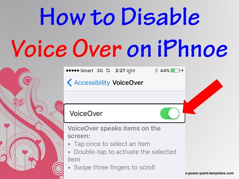 How to Turn Off Voice Over on iPhone 2016 (Khmer)