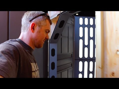Setting up the Death Star panels for Kids Day!