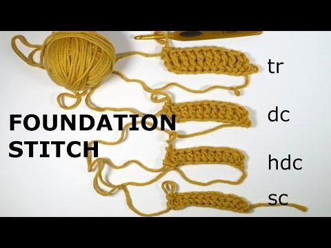 Crochet Foundation Stitch for all Stitches!