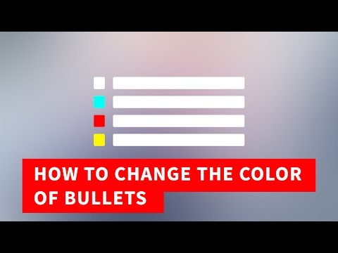 Bulleted List HTML, Change the color of Bullets | Quick Tutorial