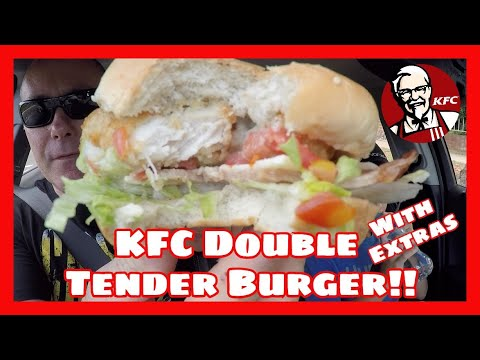 KFC Double Tender Burger with Extras!!!!