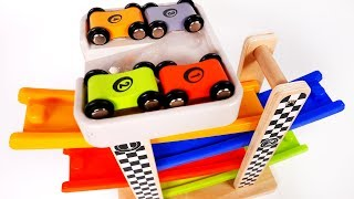 Racing Car Tower Race Cars Playset for Children and Kids Learn Colors and Numbers