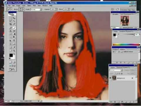 Photoshop CS2 How to change hair colors.flv