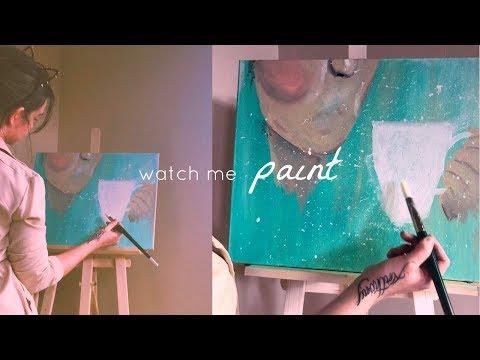 paint with me 🖤 a vlog | STILLGLAMORUS