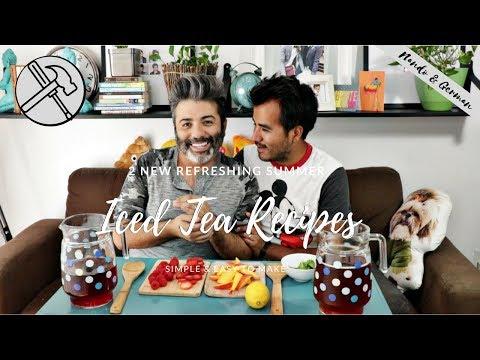 Summer Ice Tea Recipes | Raspberry Peach Iced Tea | How to Strawberry Mint Tea with Infused Lemon