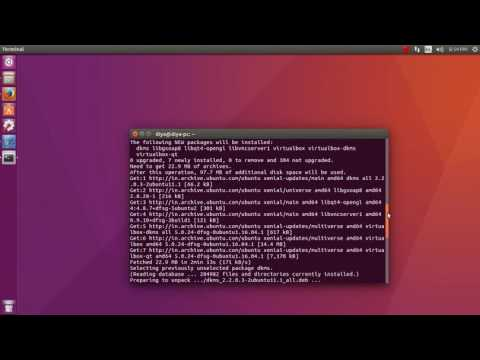 Install Virtualbox in Ubuntu 16.04