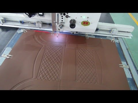 Sewing car seat covers with automatic sewing machine