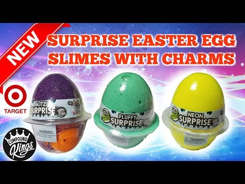 NEW COMPOUND KINGS SURPRISE EASTER EGG SLIMES WITH CHARMS @TARGET!!! IS IT WORTH IT?