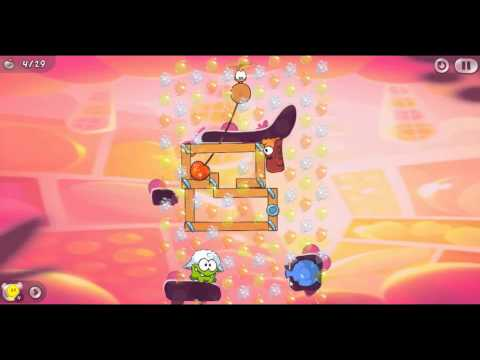 Cut The Rope 2 - Level 142 Fruit Market - All Medals Walkthrough