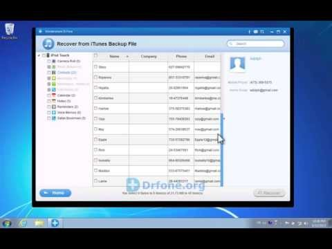 iPod Touch 5G Restore: How to Recover Deleted iPod Touch Contacts from iTunes Backup