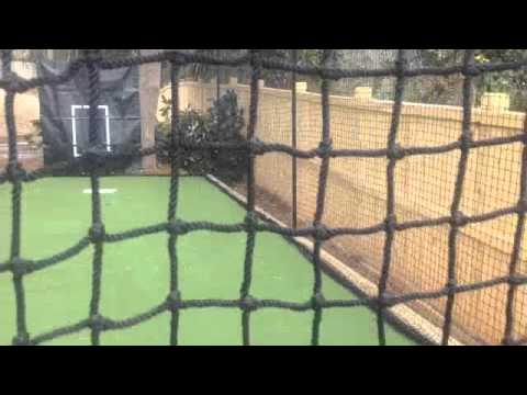 Batting cage frame and netting outdoor installation Atlanta GA