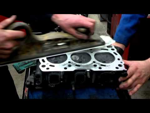 Cleaning head gasket surfaces