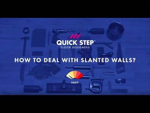 How to install laminate in a room with slanted walls | Tutorial by Quick-Step