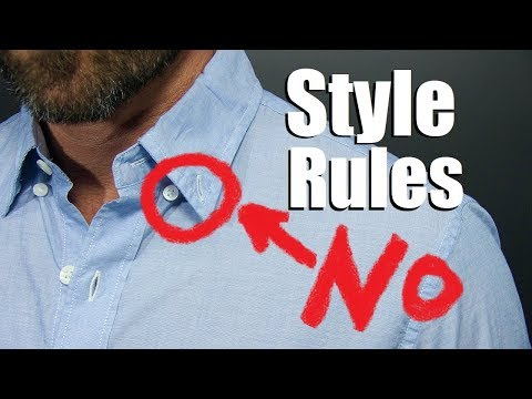 7 Style Rules EVERY MAN Should Follow!