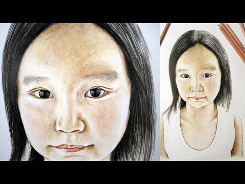 How to Create a Portrait with Colour Pencils