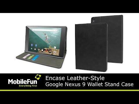 Encase Leather-Style Google Nexus 9 Wallet Stand Case