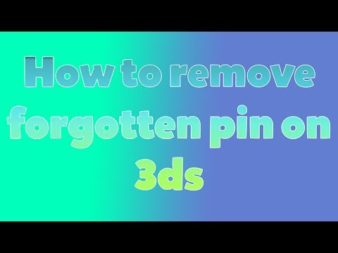 How to remove forgotten pin on 3ds