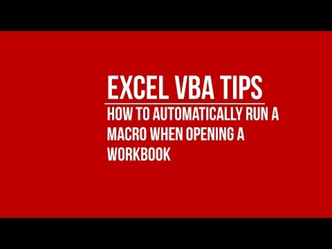 [VBA] How to Automatically Run Macro When an Excel Workbook is Opened