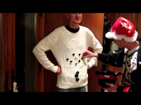 Ugly Christmas Sweater Snowman 2012