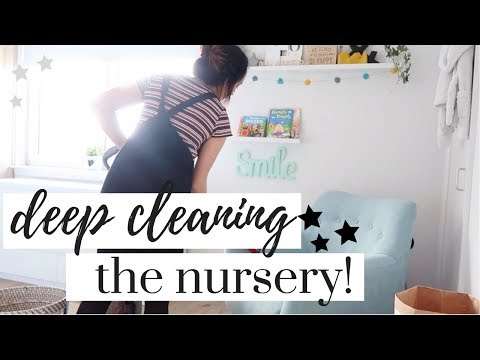 NURSERY SPEED CLEAN 2018 | EXTREME DEEP CLEANING MOTIVATION | MAISY MEOW