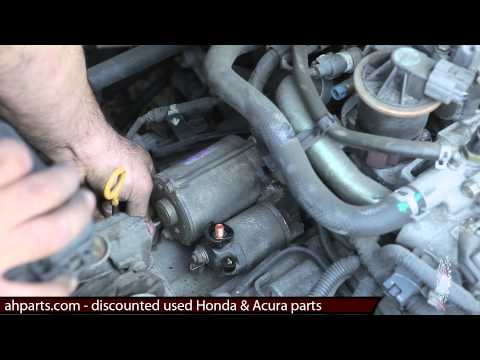 How to change or replace a starter motor 2001 2002 2003 2004 2005 Honda Civic replacement INSTALL