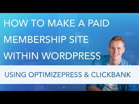 How To Create A Member Website | Optimizepress and Clickbank