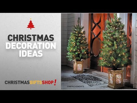 Top Christmas Decorations Elegant: 4 Ft Pre-Lit Entryway Christmas Trees - Set of 2 - By