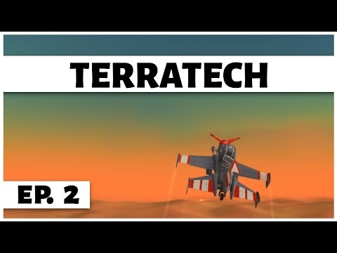 TerraTech - Ep. 2 - Fly the Abandonded Plane! -  Let's Play
