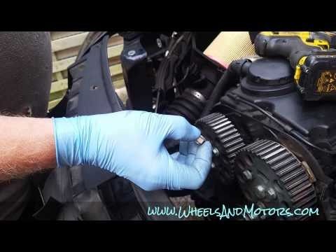 How to replace timing belt (cambelt) and water pump on 2.0 tdi engine (Audi A6, C6 4F)