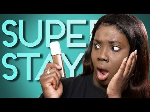 Maybelline Superstay Foundation Dark Skin Review | BEST DRUG STORE FOUNDATION (2018)