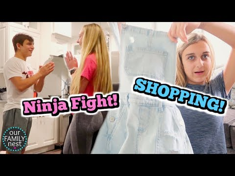 AFTER SCHOOL SHOPPING TRIP & NINJA MOVES FOR THE WIN!