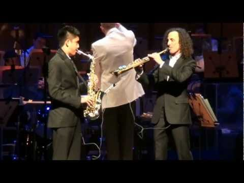 Xxx Mp4 Kenny G And Austin Gatus Over The Rainbow Accompanied By Orange County S Pacific Symphony 3gp Sex