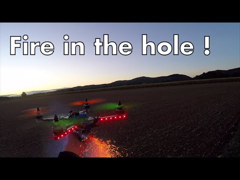 Fire in the hole, quadcopter and smoke grenade