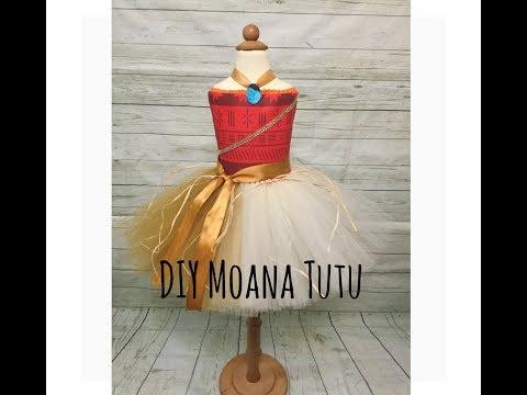 DIY Moana tutu Costume | Halloween Costume | Moana Tutu