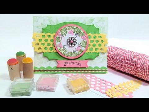 Using Chalks for Cardmaking: Stamp School!